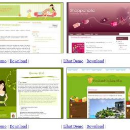Girly Blogger Template Gratis