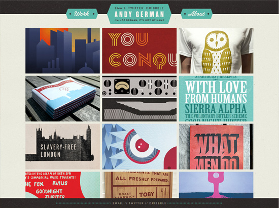 andygerman textured website design inspiration