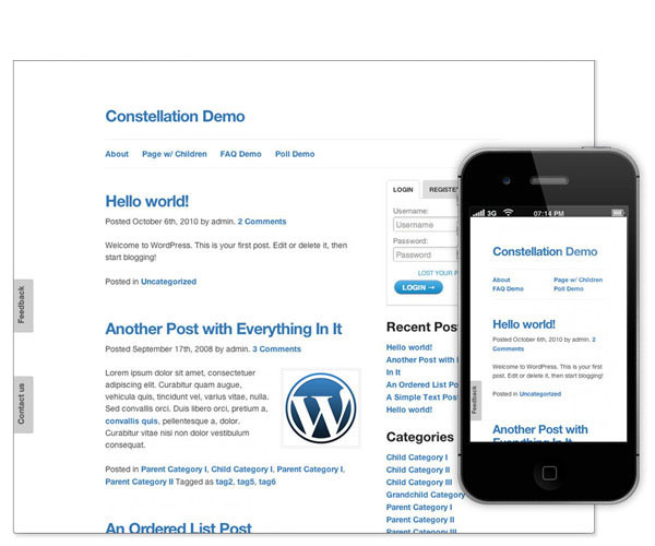 constellation demo responsive wp theme