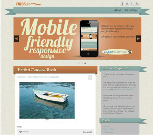 iRibbon WordPress Theme
