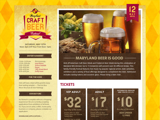marylandbeer textured website design inspiration