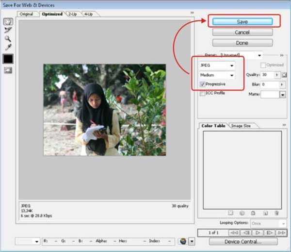 optimasi gambar web dengan photoshop 3 1