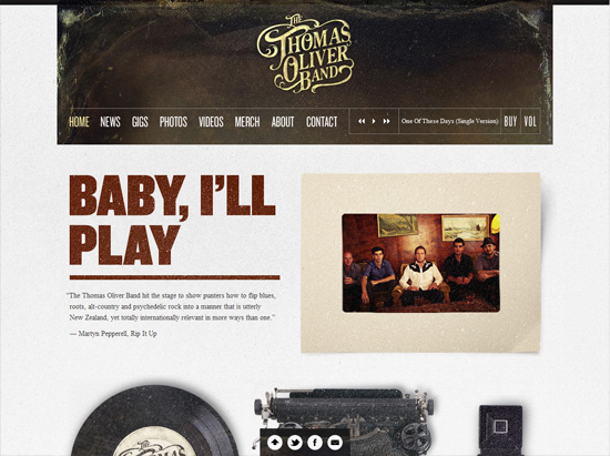 thomasoliband textured website design inspiration