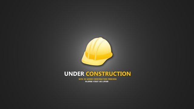 under construction page design gravisware. Black Bedroom Furniture Sets. Home Design Ideas